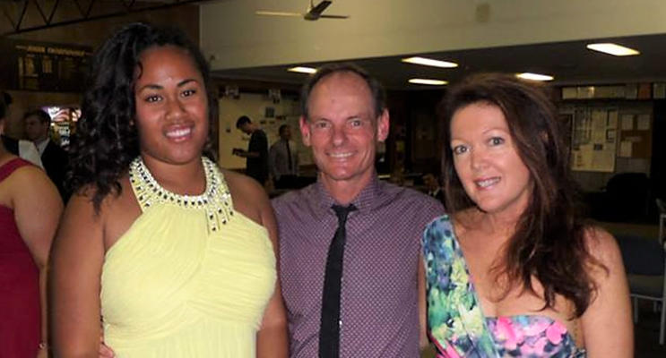 Dave and Leanne Sibert with their daughter, Lily. Photo: Supplied