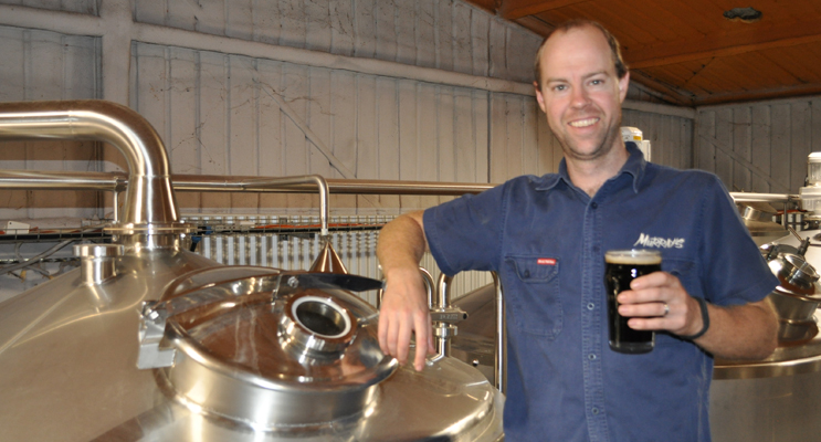 Sean Costigan (Murray's Brewer) with Brown Town.  Photo supplied.