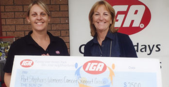 Nelson Bay IGA helps Women with Cancer