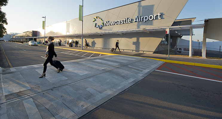 Newcastle Airport has begun its expansion to cater for international flights