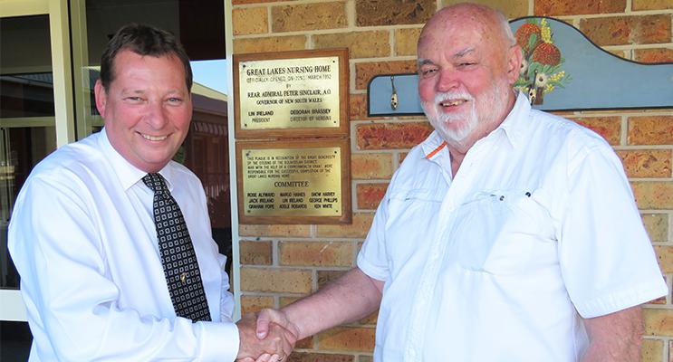 Anglican Care CEO Colin Osborne and GLAC Chairman John Ireland.