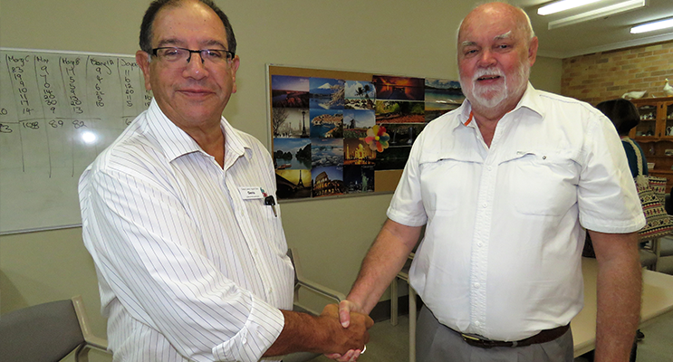GLAC Executive Officer Denis Byron with Chairman John Ireland.
