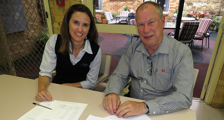 Scrutineers: General Manager of Anglican Care Amber Witherdin and Roger Dixon.