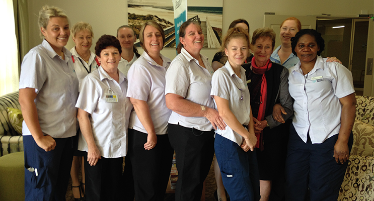 HAPPY STAFF: Estia Aged Care Facility.
