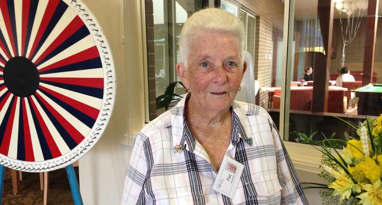 ESTIA VOLUNTEER OF THE YEAR: Pat Burnett.