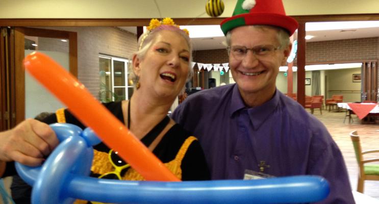 ESTIA OPEN DAY: Queen Bee and Volunteer Trevor McNair.