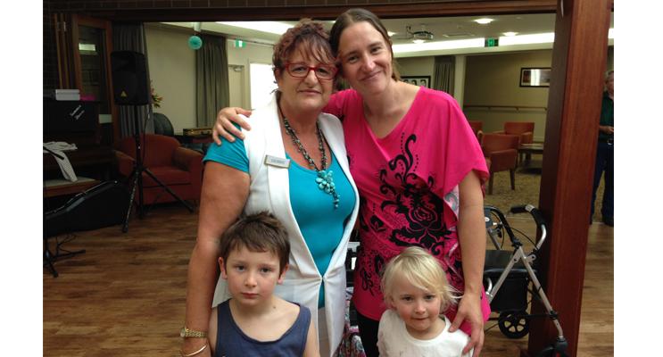 THREE GENERATIONS: Staff member Debbie Kay, daughter Melissa, grandchildren, Leeman and Sophie.