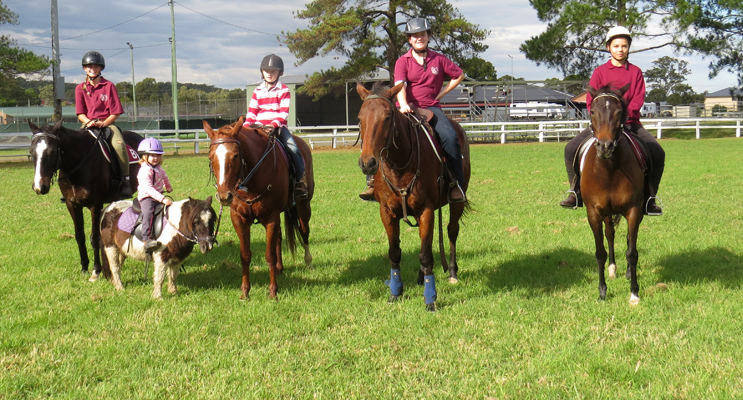 Pony Club Rally Day: Ava St Claire, Elke Madden, Josie Madden, Bella Burgess and Grace Burke.