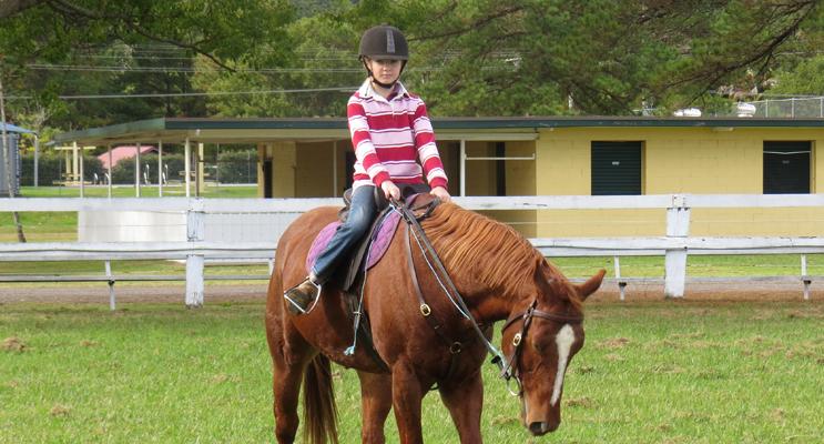 Josie Madden and her horse, Nancy.