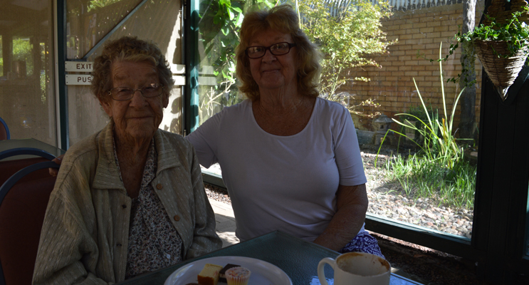 Mrs Kathleen Carr and her daughter, Mrs Diane Panowitz meet at the Botanic Gardens to tell their story.