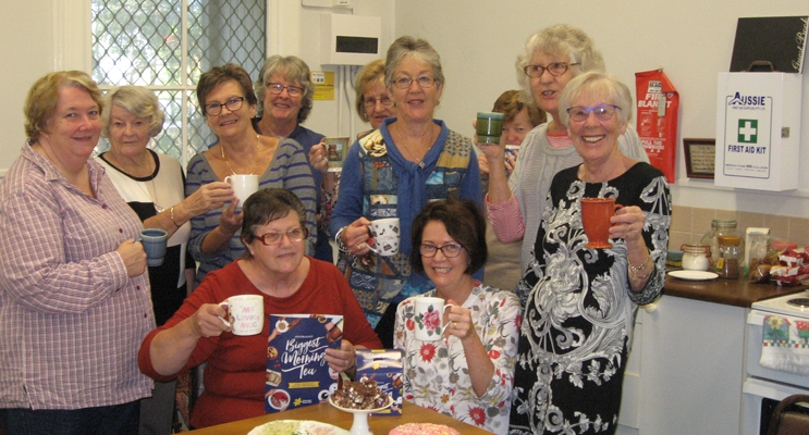 The group at its 'Biggest Morning Tea' function