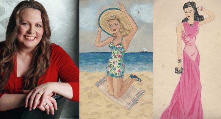 Exhibition Curator: Margaret Gooding. (left) ArtSpace Exhibition: Works of artist Hazel Gedye.