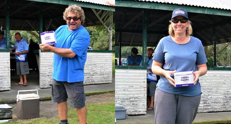 Andrew Sharp HNGCSC Men's Runner Up. (keft) Melissa Smith Bulahdelah FC Ladies' Runner Up.(right)