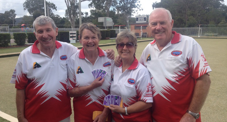 Big winners: Bill and Pauline Cummings and Angie and Jim Healey.