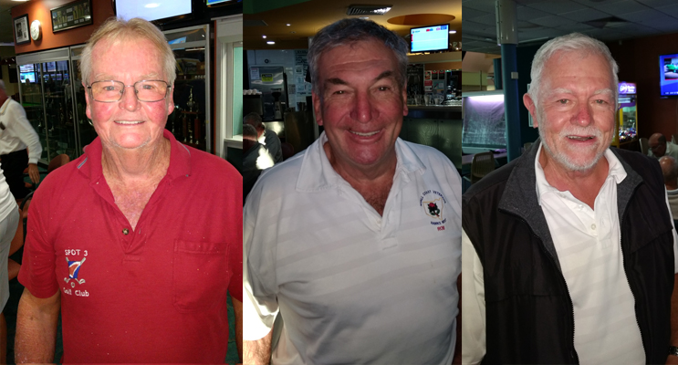 Noel Shelly, A Grade. (left) Rob Simmons, B Grade. (center) Roger Sykes, C Grade. (right)