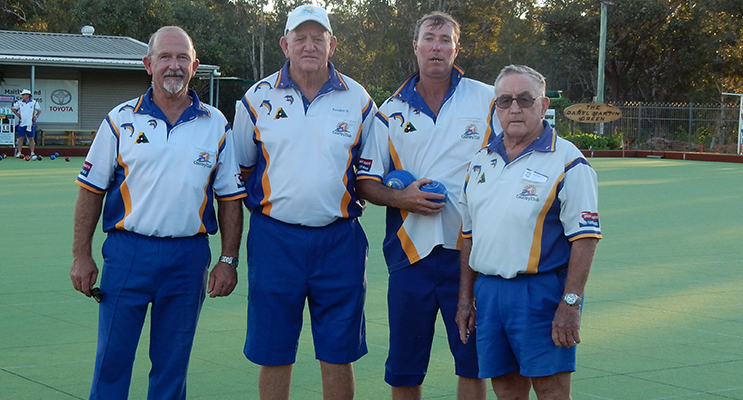 The Steve Pell Four after their win against Hamilton North on Saturday: Steve Pell, Ross Barry, Jeff Baker and Barry Drayton.