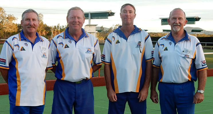 2017 Pairs Club Champions, Greg Pearson and Scott Beaumont, with Runners-up, Jeff Baker and Steve Pell.