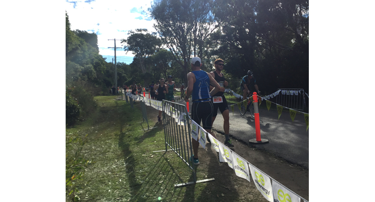 Perfect conditions at One Mile for the Elite Energy Triathlon Series. Photo by Jo Finn