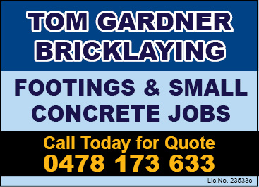 Tom Gardner Bricklaying