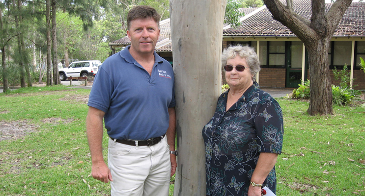 Mike Gallacher with Doreen Bradley – Tilligerry promised a new station and more officers.
