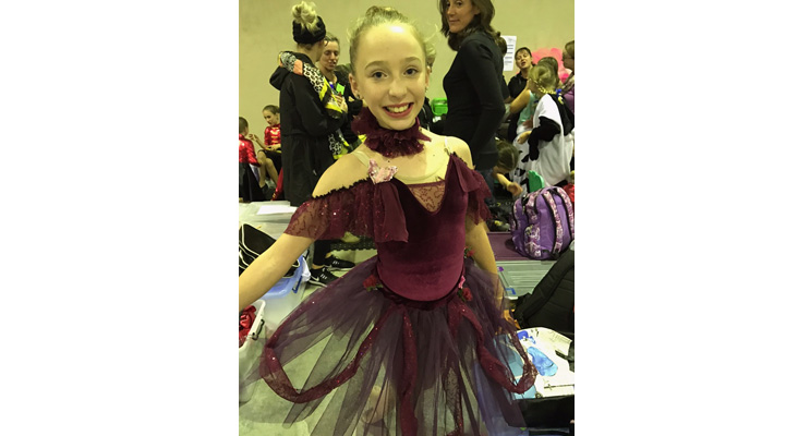 Medowie dancer Kyara Darcy ready for one of her small ensemble performances.