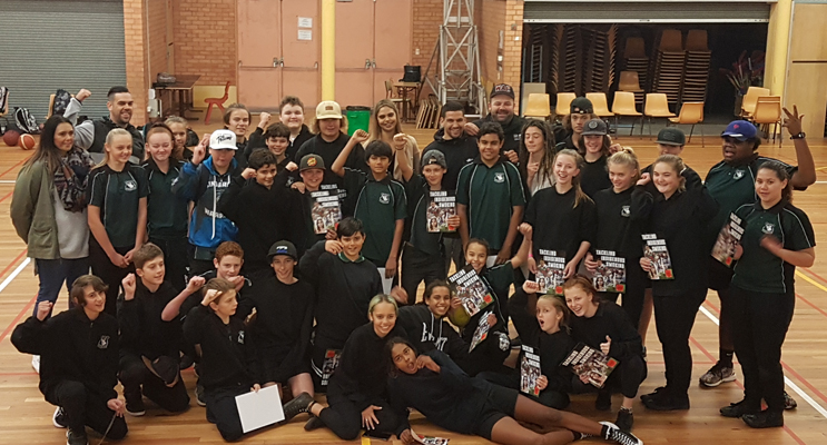 Indigenous students were treated to a star-studded workshop.