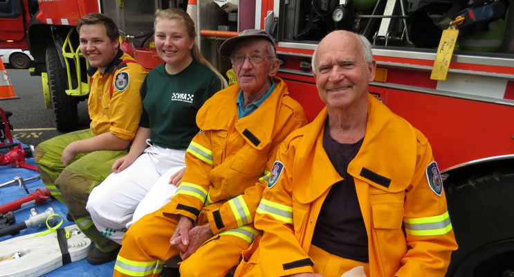 Community Support: RFS members Jake Blanch, Meagan Terry, Laurie Sumner and Grahame Rowell.