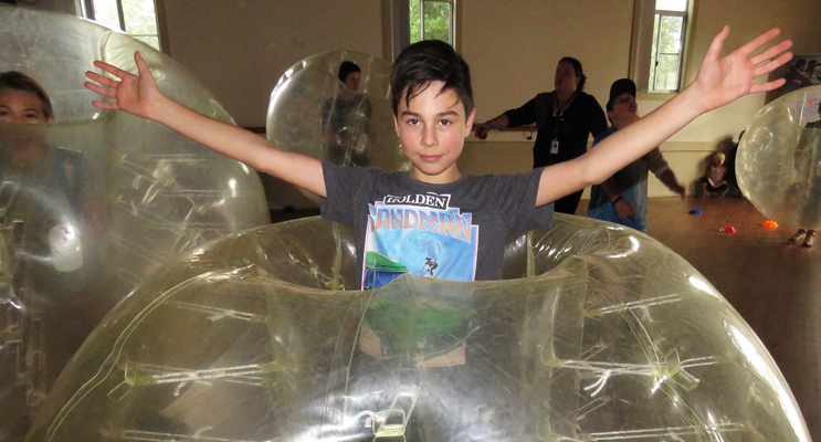 Riley Ford enjoyed the bubble soccer.