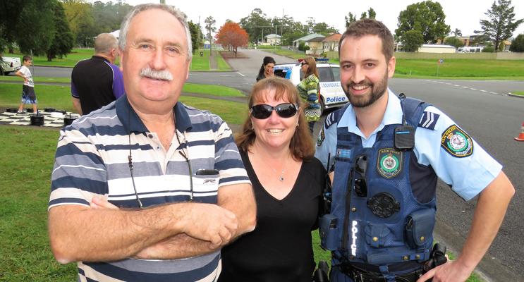 Wayne Cook, BCS Deputy Principal Deb Gilbert and Sn Constable Dave Feeney.