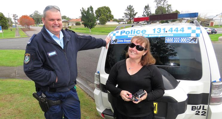 Sn Constable Trevor Mcleod with BCS Deputy Principal Deb Gilbert.