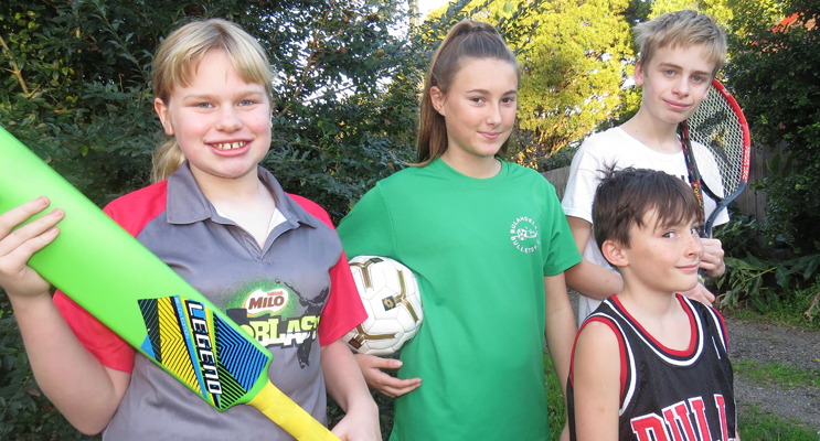 Maggie and Jack Cunich, and Amber and Corey Cunningham, are set to benefit from the Active Kids Rebate