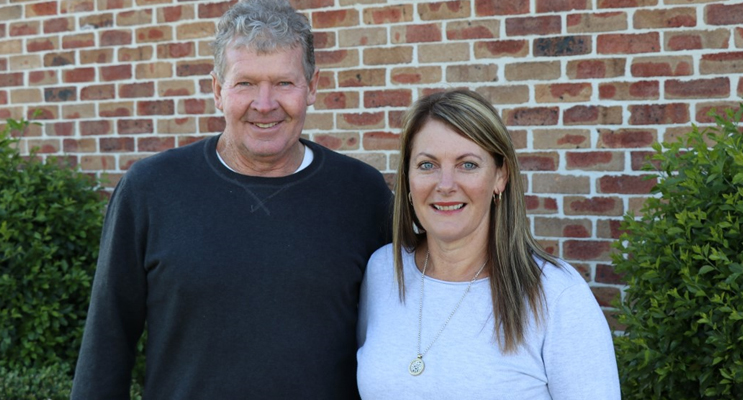 Tourist Park site owners Gary and Kim Ekert.