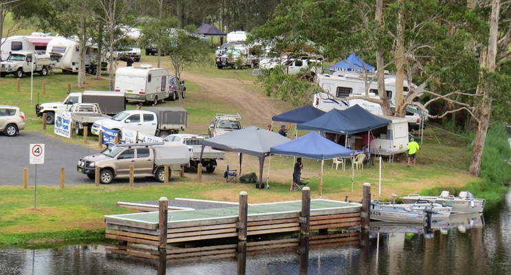 Lions Park, on the banks of the Myall River, is a popular spot for self-contained campers.