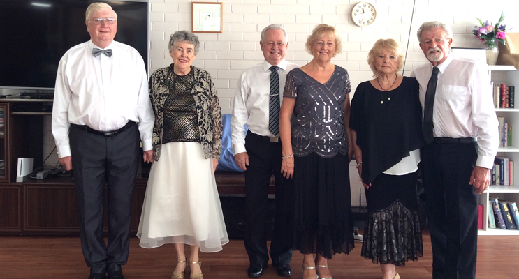 Michael Orr, Frances Bevitt, Ron and Jeanette Marshall, Barbara and Neville Isaacs.