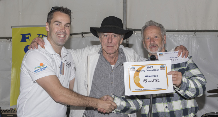 PJ & STIX, BEST DUO: Presented by Ryan Palmer to Peter James and Michael McGuirk.