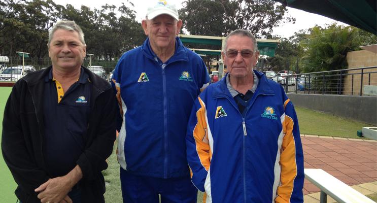 DUNEDOO FUNDRAISER: Warren Gooley, Ross Barry, Graham Kelly.