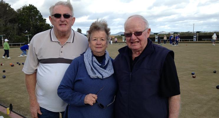 DUNEDOO FUNDRAISER: Warren Bull, Sue Stoddart and Pip Sullivan.