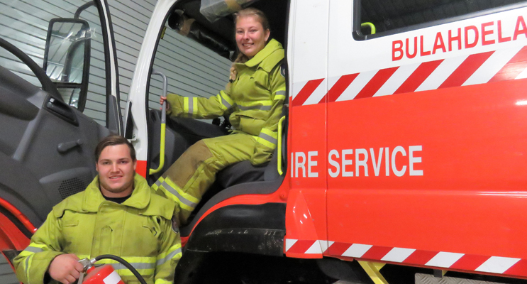 Stay Safe: RFS members Jake Blanch and Meagan Terry urge residents to make winter home safety a top priority.