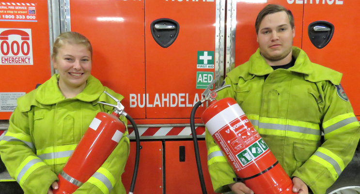Stay Safe: RFS members Meagan Terry and Jake Blanch urge residents to make winter home safety a top priority.