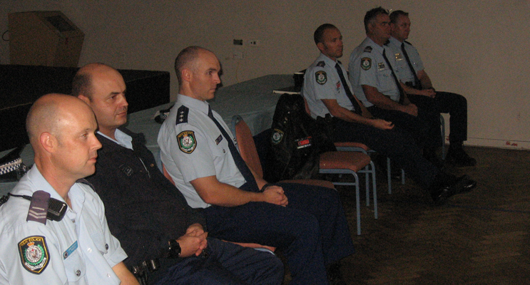 Senior police at the forum.