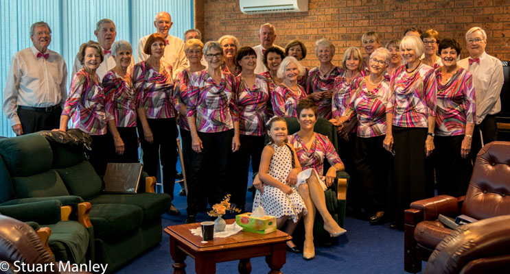 The Port Harmony Choir at a recent concert. Photo by Port Harmony