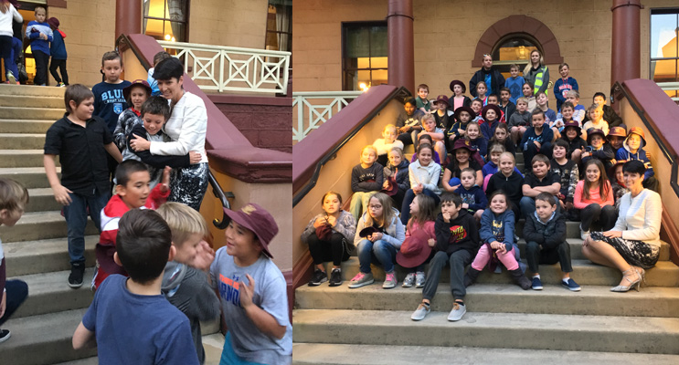 STATE PARLIAMENT EXCURSION: Tea Gardens students visit Port Stephens MP Kate Washington.