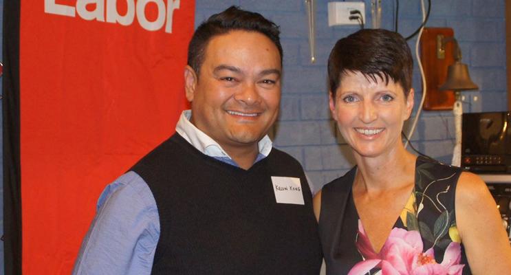 Dr Kelvin Kong with MP Kate Washington.