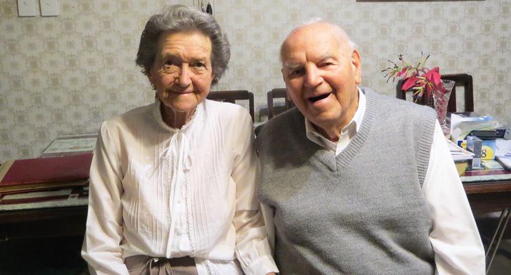 Jack and Thora Ireland on their 73rd Wedding Anniversary.