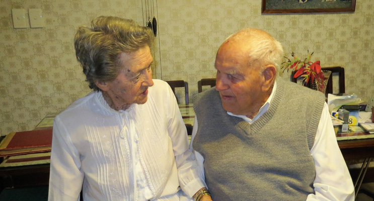 Jack and Thora Ireland celebrate 73 years of marriage.