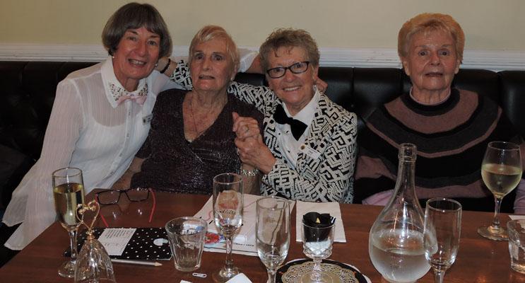 Ann Gibson (President), Brenda Gray, Pam Pett & Monica Thompson enjoying the lunch.