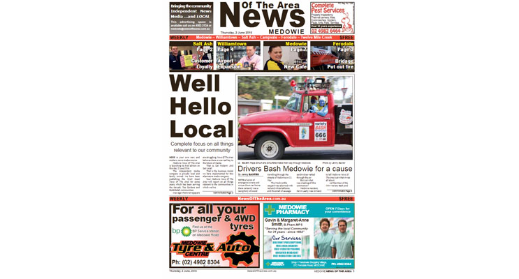Your local newspaper read by all groups in the community.