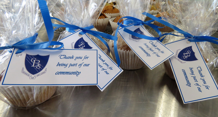 Year 12 students prepared hundred of muffins to deliver to the community.