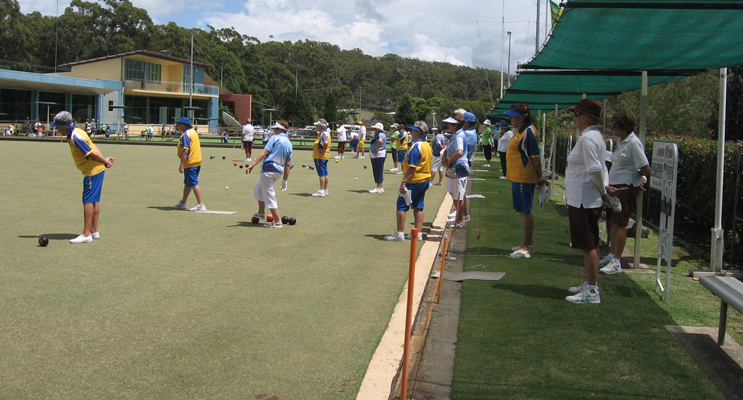Bowlers in action at the club.