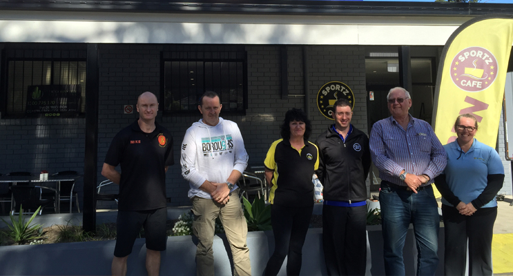 Representatives from each part of the centre are excited to be a part of the growth of this fantastic community facility. Mike Paterson (Physio), Steve Bentley (Centre Manager), Carol Saunders (Sportz Cafe), Luke Bradbury (Plus Fitness), Colin Carter (Owner) and Tammy Proctor (Munchkins Creche).